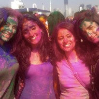Playing Holi (VIDEO)