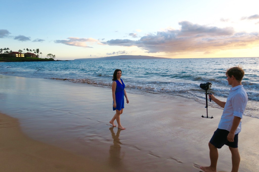 Filming in Maui Travel with Kate