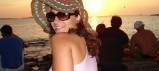 Kate in Ibiza, Cafe del Mar Sunset 2004