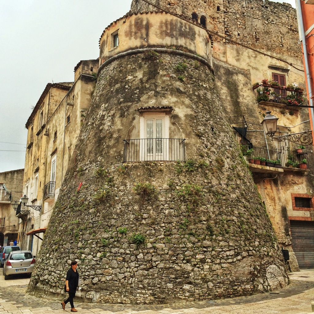 An old tower turned apartment in Vico del Gargano.