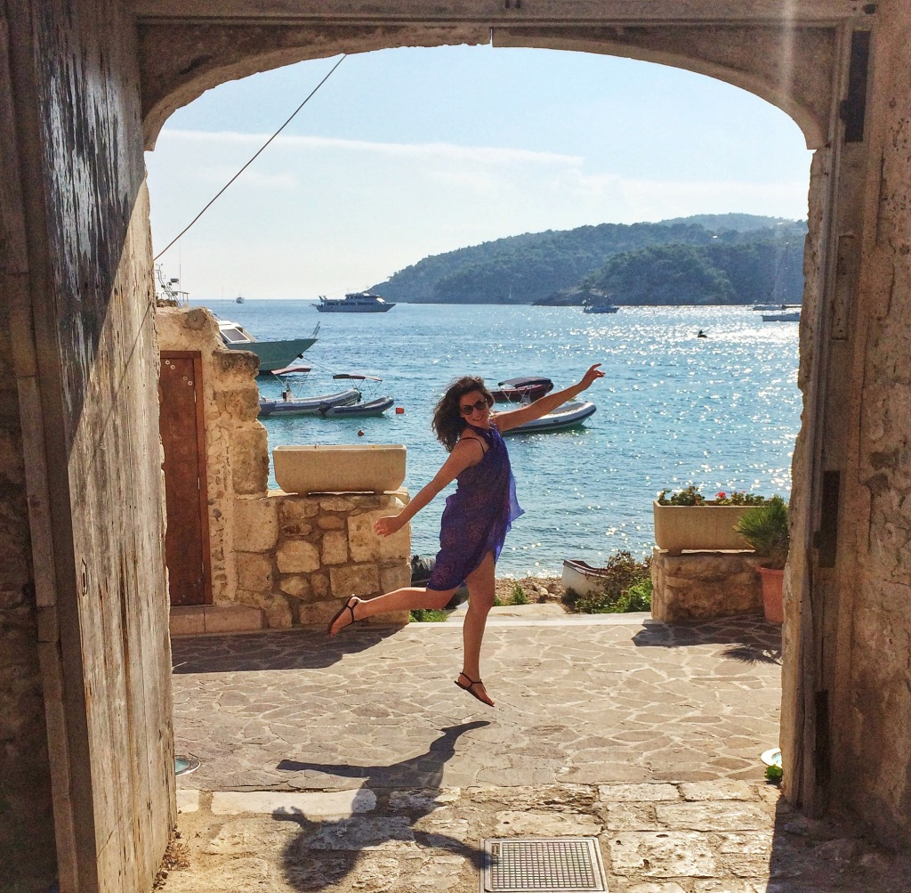 Here I am literally frolicking around the island of San Nicola Island - one of the Tremiti Islands off the coast of Gargano.