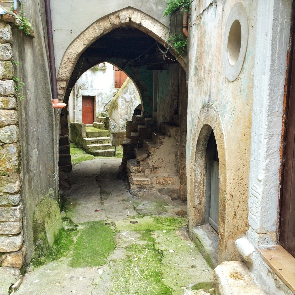 A typical street in the medieval town of Vico del Gargano.
