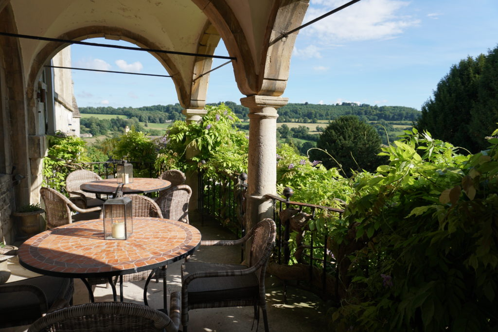 The terrace from The Painswick Hotel