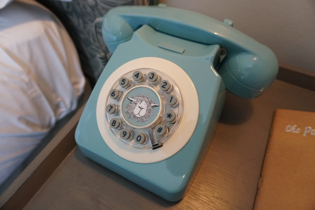 Painswick Hotel Telephone in guest room